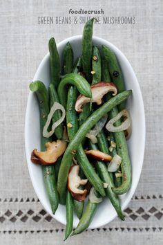 Green Beans and Shiitake Mushrooms