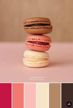 A neopolitan-macaron-inspired color palette