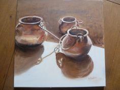 jarres en cuivre 2016 tableau peinture huile