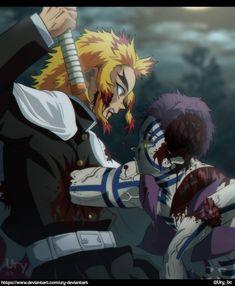 Kimetsu no Yaiba: Rengoku VS Akaza by Ury-DeviantArt on DeviantArt Manga Anime, Anime Demon, Demon Slayer, Slayer Anime, Animes Wallpapers, Live Wallpapers, Demon Hunter, Gorillaz, Anime Characters