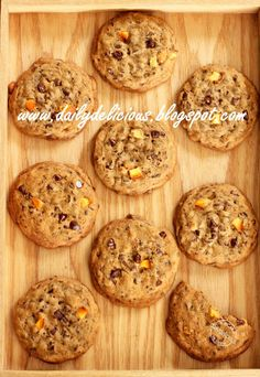 Chocolate chips and Orange Cookies