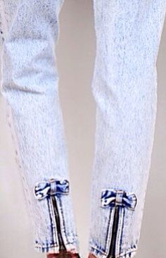 Peg Jeans with Zippers & Bows at Back Leg.  I actually had these jeans.  :)
