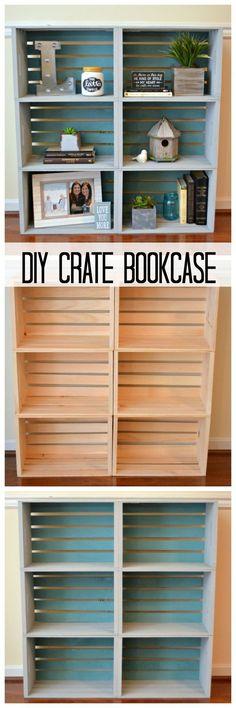 DIY Crate Bookcase...
