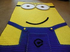 (4) Name: 'Crocheting : Crochet Minion Inspired Afghan Pattern