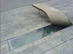 Folding concrete bench