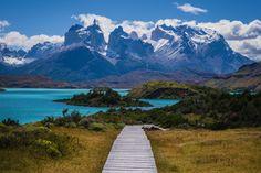 Torres del Paine, Chile - Se você gosta de caminhar, estará em seu lugar favorito no mundo. Mas por se tratar de um parque nacional, os visitantes não estão autorizados a deixar a trilha.