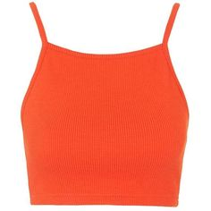 PETITE Ribbed Crop Top - Topshop found on Polyvore featuring tops, red top, petite tops, topshop, topshop tops and ribbed top
