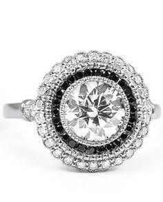 Black Diamond Bella Ring Make the black diamonds into sapphires instead