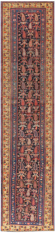 Antique Bidjar Persian Runner Rug 50280