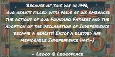Straight Talk  Im JustSaying  Because of this day in 1776...
