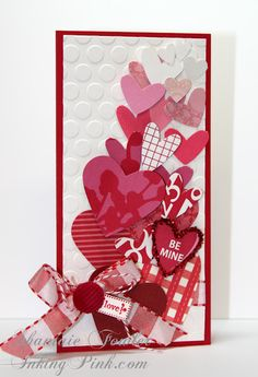 Layered Paper Heart Valentine's Card