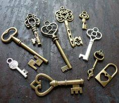 10pcs Steampunk Antique Bronze Brass