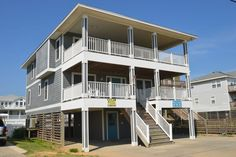 A perfect Outer Banks, NC 5-bedroom House rental in Kitty Hawk located Semi-Oceanfront - Fronts Beach Road.