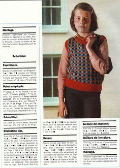 DIY vintage, couture, tricot, loisirs créatifs, années 70: Magazine tricot PINGOUIN N°7 (2/3) débardeur enfant