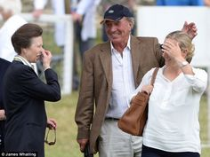 Zara joined her mother, the Princess Royal (left) and her father Mark Phillips (centre), currently Chef d'Equipe for the U.S. eventing team, for the opening of the equestrian festival