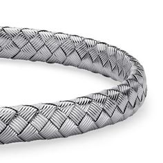 basketweave bracelet in sterling silver