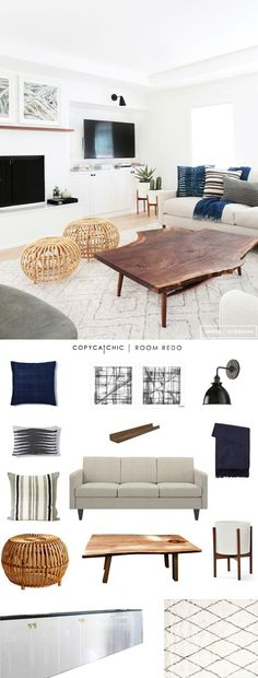 Copy Cat Chic Room Redo | Cool and Calm Living Room | | Copy Cat Chic | chic for cheap | Bloglovin'