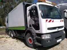Renault Premium 380 recolha de resíduos Renault Premium 380 com contentor para apanhar lixo com rodas direcionais atrás. Bom estado.