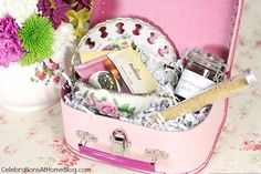 Tea party gift box - great hostess gift, or guest favors, birthday gift, mother's day gift, etc