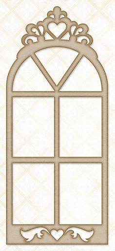 Blue Fern Studios - Chipboard - Princess Window,$3.99