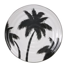 We love these hand made and hand painted ceramics by HK Living. Diameter Note: Each plate is handpainted so the palm tree design can vary. Side Plates, Serving Plates, Ceramic Plates, Style Tropical, Modern Tropical, Painted Plates, Hand Painted Ceramics, Dinner Plate Sets, Monochrome