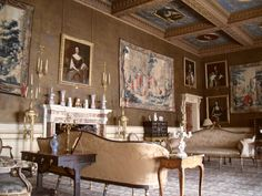 Drawing room, Chirk Castle, Chirk, Shropshire