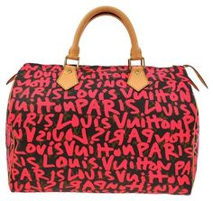 Louis Vuitton Speedy 30 Hand Monogram Graffiti Brown, Pink Tote Bag. Get one of the hottest styles of the season! The Louis Vuitton Speedy 30 Hand Monogram Graffiti Brown, Pink Tote Bag is a top 10 member favorite on Tradesy. Save on yours before they're sold out!
