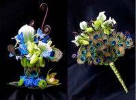 Bouquet mariée paon