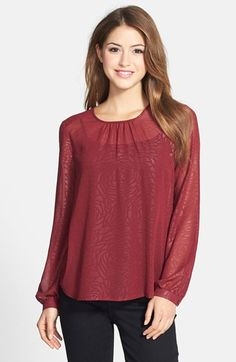 Pleione Sheer Textured Top available at #Nordstrom