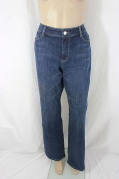 White House Black Market Blue Denim Jean Pant Size 12R