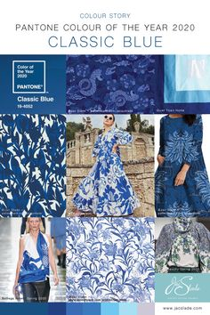Designer Classic Blue 2020 Colour Trend – Pantone 2020 colour of the year. Jac Slade Surface Pattern Designer Designer Classic Blue 2020 Colour Trend – Pantone 2020 colour of the year. Azul Pantone, Pantone 2020, Pantone Color, 2020 Fashion Trends, Fashion 2020, Fashion Colours, Blue Fashion, Interior Design Trends, Color Of The Year