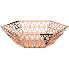 Ghidini 1961 Center Bowl in Copper Finish (18.455 RUB) ❤ liked on Polyvore featuring home, home decor, pink, pink bowl, modern home accessories, geometric home decor, pink home decor and stainless bowl