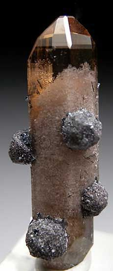 Hematite after Garnet on Topaz / Mineral Friends <3