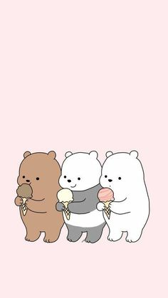 Ig Kwaiuniverse Kawaii Wallpaper Pastel Feed Cute pertaining to W We Bare Bears Wallpapers - All Cartoon Wallpapers Wallpaper Kawaii, Wallpaper Iphone Disney, Cute Disney Wallpaper, Cute Panda Wallpaper, Animal Wallpaper, Polar Bear Wallpaper, Aztec Wallpaper, Pink Wallpaper, Flower Wallpaper