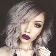Alternative Hair Ideas the purple-brown tinted roots