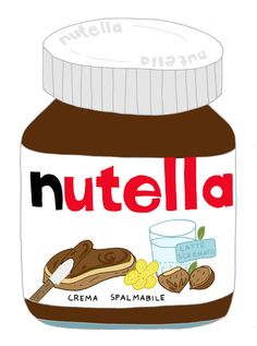 Yesterday i got frozen yoghurt with nutella flavor and it tastes awesome with less guilty feeling. Nutella, Frozen Yoghurt, Chocolate Packaging, Food Places, Play Food, Italian Artist, Creating A Blog, Food Packaging, Food Illustrations