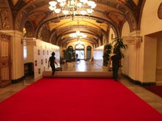 Red Carpet install downtown Los Angeles. For more information about red carpet rental solutions, go to http://www.redcarpetsystems.com/products-services/red-carpet/