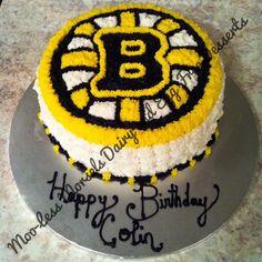 Boston Bruins Birthday Cake All dairy and egg free!