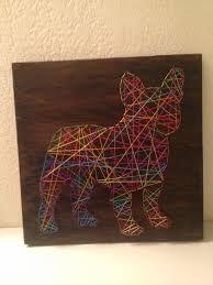 Resultado de imagem para placa de madeira decorada com pregos e linha
