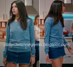 Medcezir - Eylül (Hazar Ergüçlü), Blue Sweater