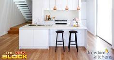 Stunning modern kitchen with a few vintage twists.