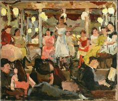 Cafe-chantant in de Nes te Amsterdam 1893 Isaac Israels