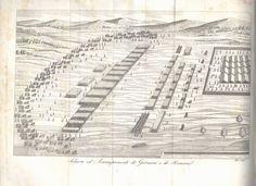 Illustrazione di un accampamento di Germani e Romani. #storiaantica #illustrazione #storiamilitare
