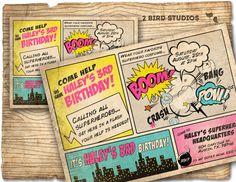 Super héroe invitación / invitación de cumpleaños por 2birdstudios
