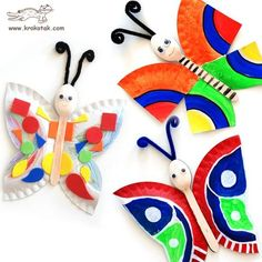 Spoon and paper plate butterflies wirh symmetry