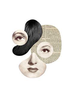 Miss Modular / Tirage sur papier artistique / formats Surrealist Collage, Art Du Collage, Collage Design, Art Design, Collages, Atelier D Art, Animated Icons, Found Art, Art Et Illustration