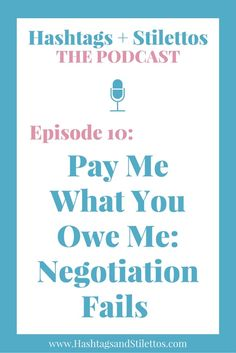 PODCAST - Lessons I've Learned From Being a Terrible Negotiator We don't talk enough about money. And we don't talk enough about what happens at the negotiating table, when you're an employee or when you're a business owner. It's easy to make mistakes when you just don't have the knowledge or experience which is why I wanted to share some of my biggest negotiating fails.