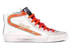 Golden Goose Deluxe Brand Slide White Orange