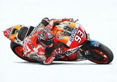 Marc Marquez by on DeviantArt Marc Marquez, Valentino Rossi, Super Bikes, Deviantart, Motorbikes