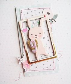 Project Ideas for Crate Paper - Little You Collection - 12 x 12 Chipboard Stickers with Glitter Accents - Girl